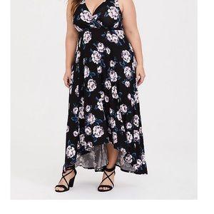Torrid knit high low floral dress